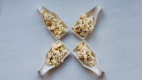 Popcornprövkopior arkivfoton
