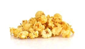 Popcorns isolated on white background stock photo