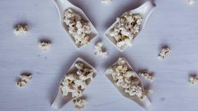 Popcornsteekproeven royalty-vrije stock afbeeldingen