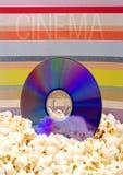 popcornu cd fotografia stock