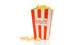 popcornu filmu obraz stock