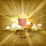 Popcornvektorbakgrund vektor illustrationer