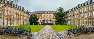 Pope'suniversiteit in Leuven royalty-vrije stock afbeelding