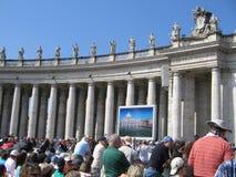pope аудитории стоковые фото
