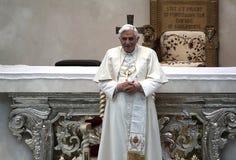 Pope. Brescia,Italy,November 8,Pope Benedict XVI°  celebrate Mass and Angelus in Square Paolo VI°,November 8,2009 in Brescia,Italy Stock Photos