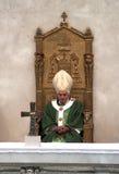 Pope. Brescia,Italy,November 8,Pope Benedict XVI°  celebrate Mass and Angelus in Square Paolo VI°,November 8,2009 in Brescia,Italy Stock Photo