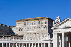 Pope from Apostolic Palace - Rome Royalty Free Stock Photography