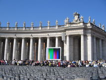 Pope Audience. In San Pietro, Rome royalty free stock photography