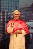 Pope Benedict. Wax statue at Madame Tussauds in London stock image
