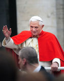 Pope Benedict XVI. Born Joseph Alois Ratzinger on April 16th 1927 is the 265th Pope. St Peters Square November 14, 2007 Royalty Free Stock Photography