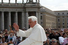Pope Benedict XVI. St Peters Square April 22, 2009 Royalty Free Stock Photos