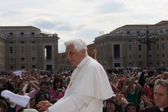 Pope Benedict XVI. St Peters Square April 22, 2009 Stock Photography