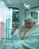 Pope Benedict XVI. LISBON - MAY 11: 2010 Pope Benedict XVI, born Joseph Alois Ratzinger is the 265th and reigning Pope, he succeeded Pope John Paul II on May 11 Royalty Free Stock Photography