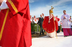 Pope Benedict XVI. Visits Czech Republic in 2009 Royalty Free Stock Photos