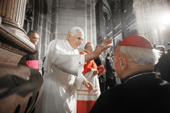 Pope Benedict XVI. Visits Czech Republic in 2009 Stock Photo