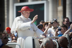 Pope Benedict XVI blessing Stock Photo