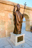Pope Benedict XVI bronze statue, Santa Maria di Leuca, Italy Royalty Free Stock Photos