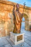 Pope Benedict XVI bronze statue, Santa Maria di Leuca, Italy Stock Photo