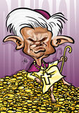 The Pope Benedict XVI caricature Royalty Free Stock Photos