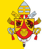 Pope benedict XVI 16 coat of arms Stock Photography