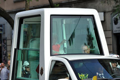Pope Benedict XVI in Milan on June, 1st 2012 Stock Image