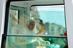 Pope Benedict XVI in Milan on June, 1st 2012 Royalty Free Stock Images