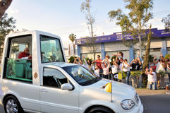 Pope Benedict XVI visit to Mexico Stock Photo