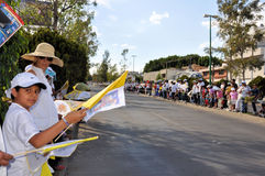 Pope Benedict XVI visit to Mexico: Crowd Royalty Free Stock Image