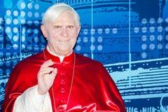 Pope Benedict XVI. Wax figure, Madame Tussaud's Museum, London Royalty Free Stock Photos