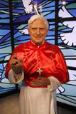 Pope Benedikt XVI. JULY 10, 2008 - BERLIN: the wax figure of Pope Benedikt XVI. aka Joseph Alois Ratzinger - opening of the waxworks Madame Tussauds, Unter den Royalty Free Stock Images