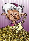 Pope Benedykt XVI karykatura Zdjęcia Royalty Free