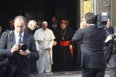 Pope Bergoglio Francesco in Florence stock image