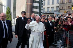 Pope Bergoglio Francesco in Florence Stock Photo