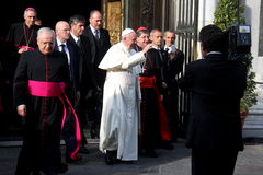 Pope Bergoglio Francesco in Florence stock photo