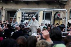 Pope Bergoglio Francesco in Florence Royalty Free Stock Photography
