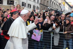 Pope Bergoglio Francesco in Florence Stock Image