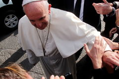 Pope Bergoglio Francesco w Florencja Obraz Stock