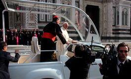 Pope Bergoglio Francesco w Florencja Obraz Royalty Free