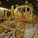 Pope carriage. Made around 1825 during the pontificate of Pope Leo Royalty Free Stock Photos