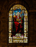 Pope Clement I, saint and martyr - Stained Glass Stock Photos