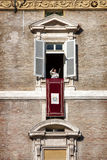 Pope Francesco appeared at the window. December 8, 2014. Immaculate Conception Royalty Free Stock Image