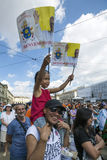 Pope Francesco I visit Torino Stock Image