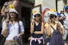 Pope Francesco I visit Torino Royalty Free Stock Photo