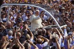 Pope Francesco I visit Torino. In Piazza Vittorio Stock Photos