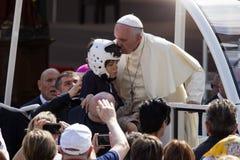 Pope Francesco I visit Torino. In Piazza Vittorio Royalty Free Stock Image