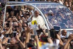 Pope Francesco I visit Torino Royalty Free Stock Photos