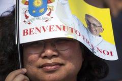 Pope Francesco I visit Torino Stock Photos