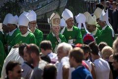 Pope Francesco I visit Torino Stock Images