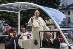 Pope Francesco I visit Torino Stock Photography