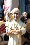 Pope francesco ninot in Fallas of Alicante, 24 June 2.014 Stock Image